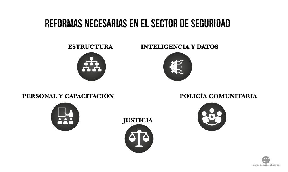 Infografía Reformas necesarias en el sector de seguridad